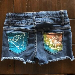 One of a kind, Handpainted shorts
